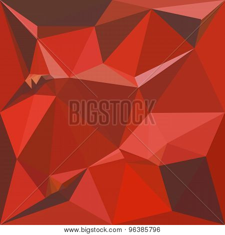 Auburn Red Abstract Low Polygon Background