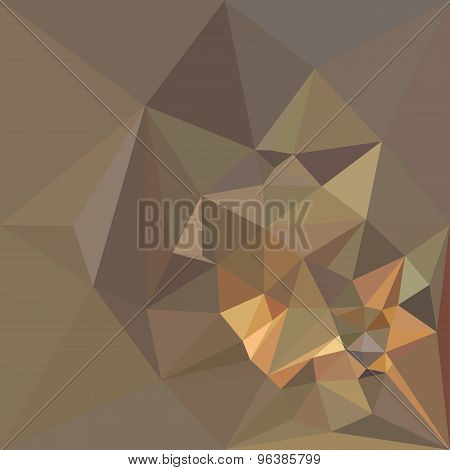 Dark Tan Brown Abstract Low Polygon Background
