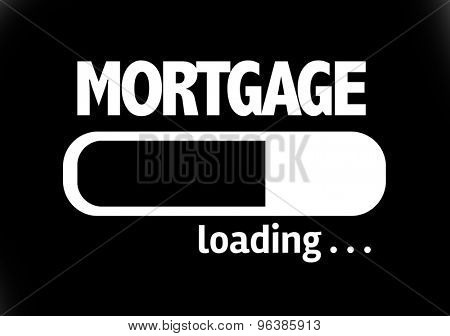 Progress Bar Loading with the text: Mortgage