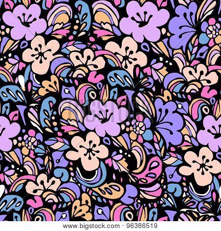 floral pattern blue