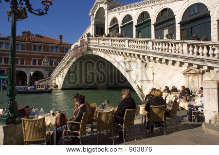 Lunch At The Rialto Bridge