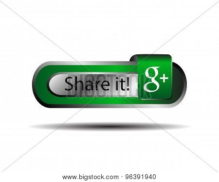 Share it icon with g+ vector