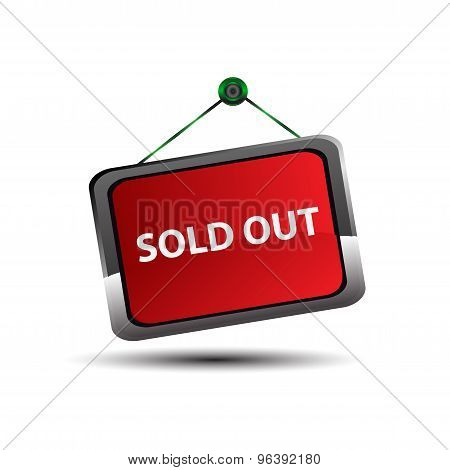 Sold out signs label. Sold sign Vector