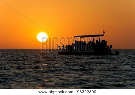 Ferry Boat Sunset