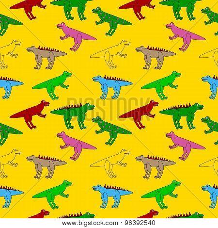 Dinosaurs Seamless Pattern.