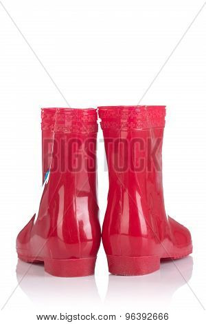 Red Rubber Boots For Kids
