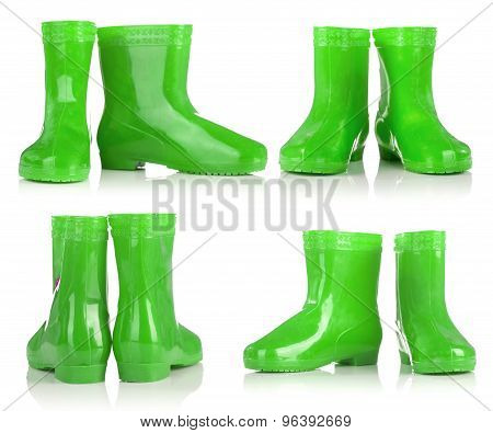 Green Rubber Boots For Kids