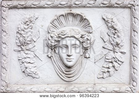 3D Art Roman Sculpture Made Of White Plaster