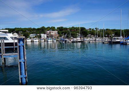 Boats Docked at the Marina