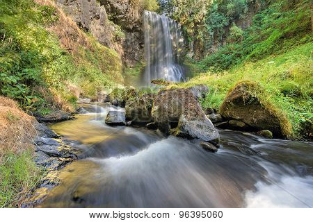 Upper Bridal Veil Falls In Summer in Oregon