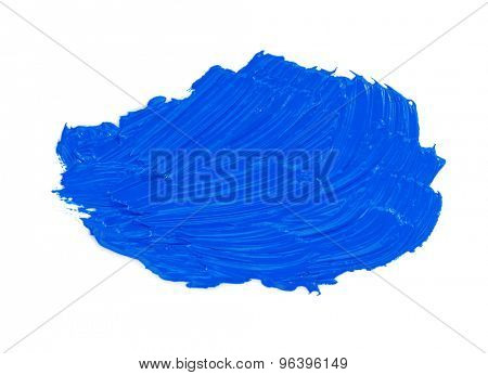 oil paint spot isolated on white background
