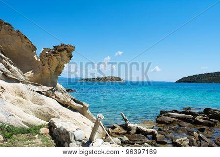 Stones and sea - beautiful Talgo beach near Vourvouru