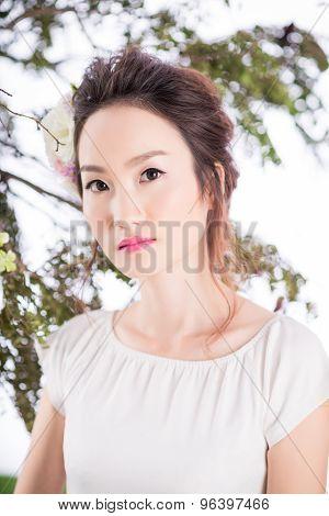 Fresh beautiful woman