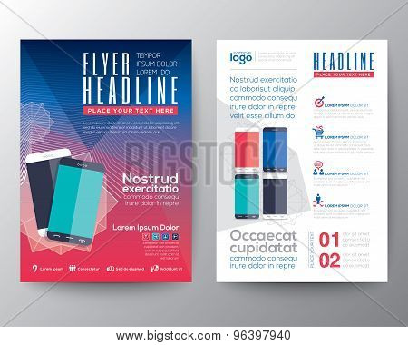 Abstract Design Vector Template Layout For Magazine Brochure Flyer Booklet Cover Annual Report