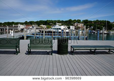 Benches on Municipal Dock