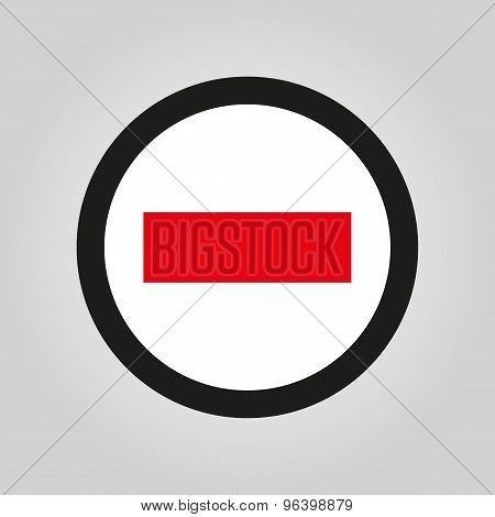 The stop icon. Danger and warning symbol. Flat