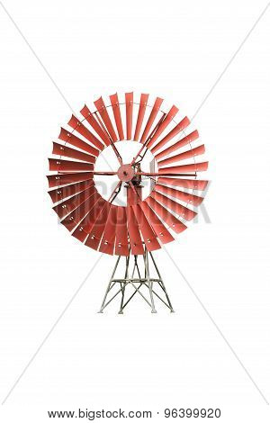 Wind Mill Isolated On White Background