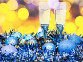 picture of sparkling wine  - Christmas still life  - JPG
