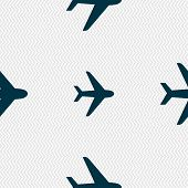 image of fighter plane  - Plane icon sign - JPG