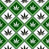 pic of reggae  - cannabis seamless texture - JPG