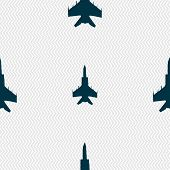 picture of fighter plane  - fighter icon sign - JPG