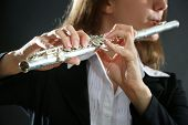 pic of transverse  - Musician playing flute - JPG