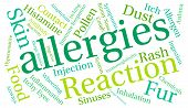 picture of allergy  - Allergies word cloud on a white background - JPG