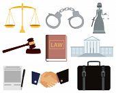 stock photo of handcuff  - Icon set law - JPG