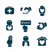 image of charity relief work  - Charity and donation icons and symbols - JPG