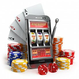 stock photo of poker machine  - Online casino concept - JPG