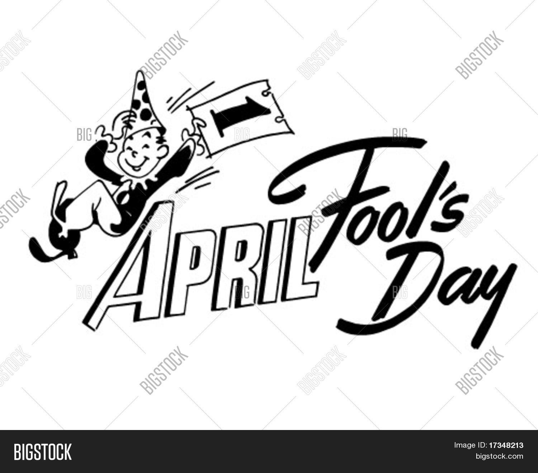 April Fool's Day - Ad Header - Retro Clipart Stock Vector & Stock ...