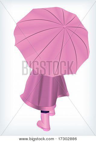 Baby with unbrella