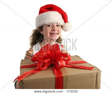 Christmas Girl With Braces