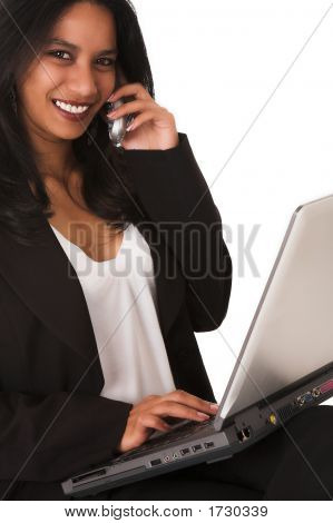 African Businesswoman On The Phone