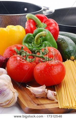 Vegetables And Spaghetti