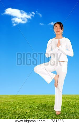 Girl Doing Yoga Meditation