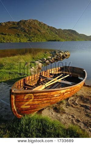 Wooden Rowing Boat