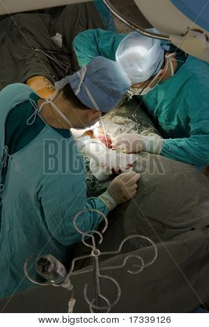 working surgeons. view from above