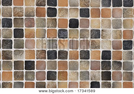 coffee-colored mosaic