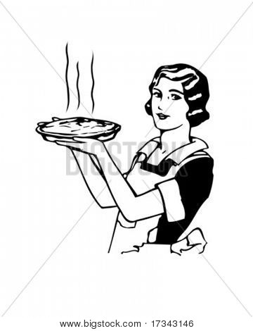 Mom's Apple Pie - Retro Clip Art
