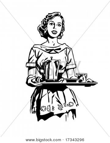 Breakfast Is Served - Retro Clip Art