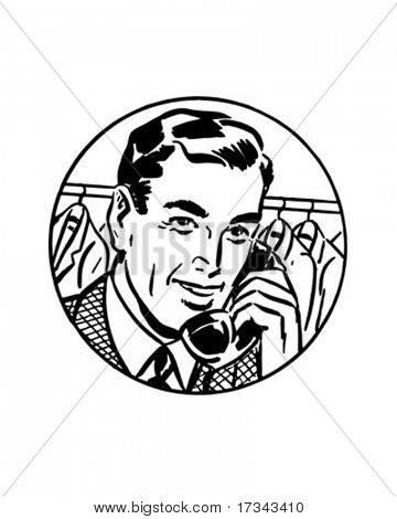 It's Easiest By Phone #2 - Retro Clip Art