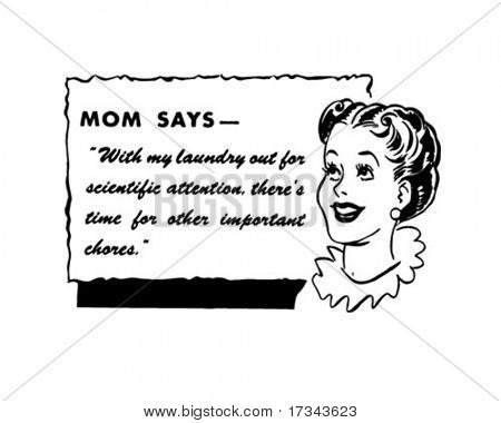 Mom Says - Retro Spokeswoman - Clip Art