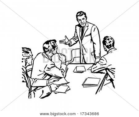 Business-Meeting - Retro ClipArt