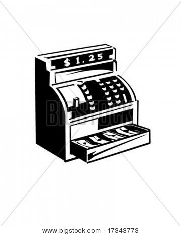 Cash Register - Retro Clip Art