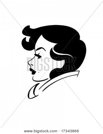 Good Looking Gal - Retro Clip Art