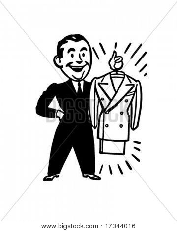 A Brand New Suit - Retro Clip Art
