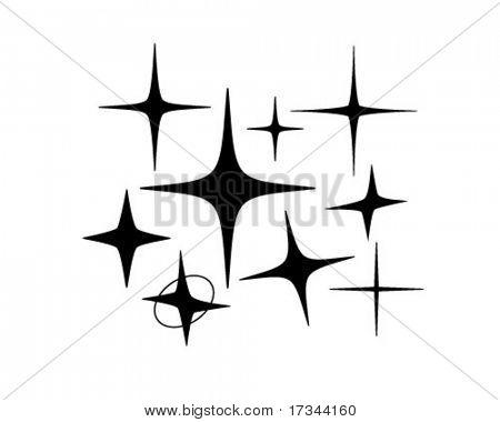 Retro estrelas 5 - Retro Clip-Art