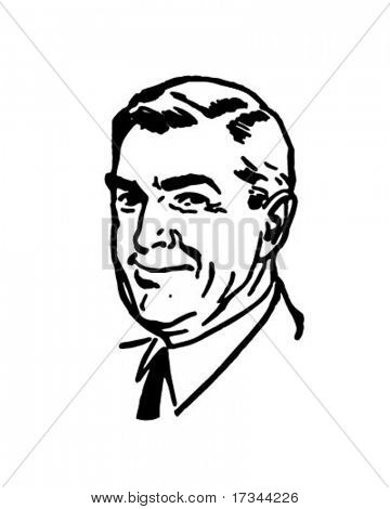 Distinguished Gentleman - Retro Clip Art
