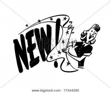 New! - Ad Header - Retro Clip Art